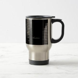 Shades Of Grey Dot Pattern 15 Oz Stainless Steel Travel Mug