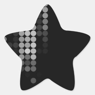 Shades Of Grey Dot Pattern Star Sticker