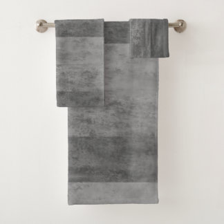 Shades of Grey Ombre Striped Bath Towel Set