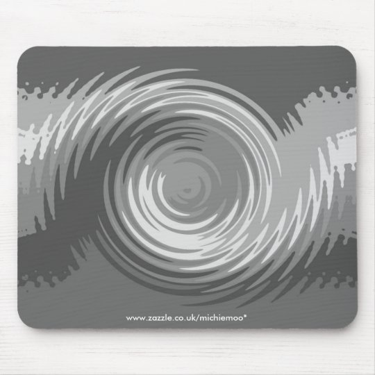 Shades of Grey Ripple Mousemat Mouse Pad