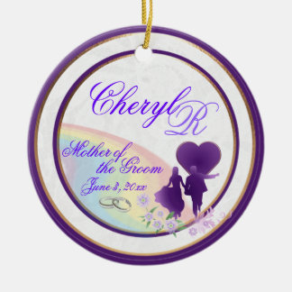 Shades of Lavender Mother of the Groom Keepsake Ceramic Ornament