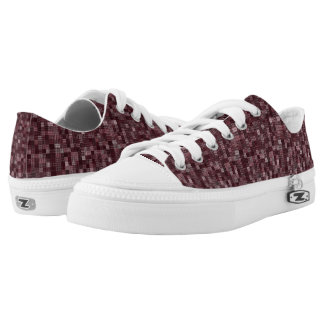 Shades Of Maroon Low-Top Sneakers