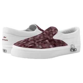 Shades Of Maroon Slip-On Sneakers