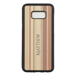 Shades of Marsala Striped Pattern Carved Samsung Galaxy S8+ Case