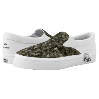 Shades Of Moss Green Slip-On Sneakers