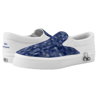 Shades Of Navy Blue Slip-On Sneakers