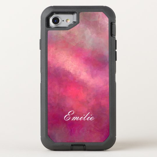 Shades of Ombre Red and Pink Shadow Art OtterBox Defender iPhone 7 Case