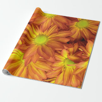 Shades of Orange Daisy Wrapping Paper