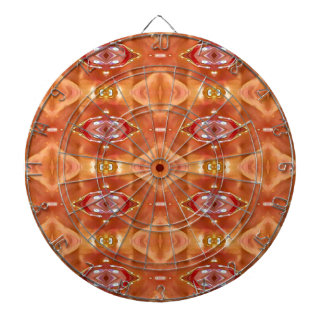 Shades Of Orange Peach  Modern Festive Design Dartboard