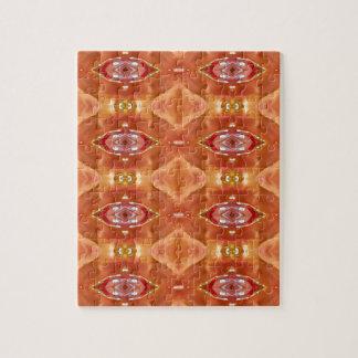 Shades Of Orange Peach  Modern Festive Design Jigsaw Puzzle