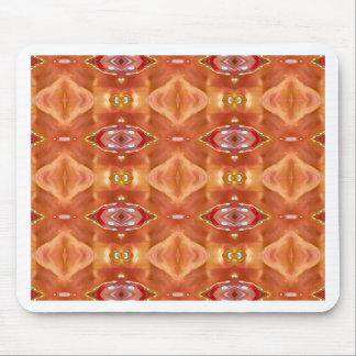 Shades Of Orange Peach  Modern Festive Design Mouse Pad