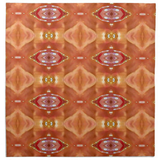 Shades Of Orange Peach  Modern Festive Design Napkin
