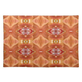 Shades Of Orange Peach  Modern Festive Design Placemat