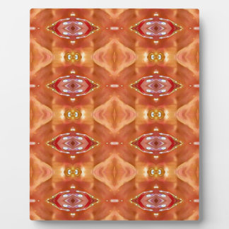 Shades Of Orange Peach  Modern Festive Design Plaque