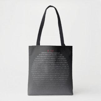 Shades of Pi: More than 750 digits starting 3.14.. Tote Bag