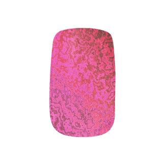 Shades of Pink and Gold Abstract Minx Nails Nail Wraps
