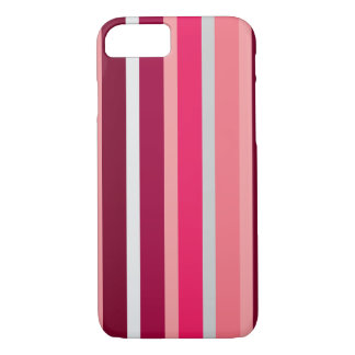Shades of Pink and Gray Stripes iPhone Case