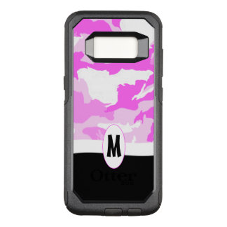 Shades of Pink and White Camouflage OtterBox Commuter Samsung Galaxy S8 Case