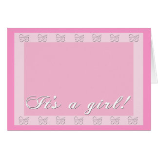 Shades of Pink Baby Announcements