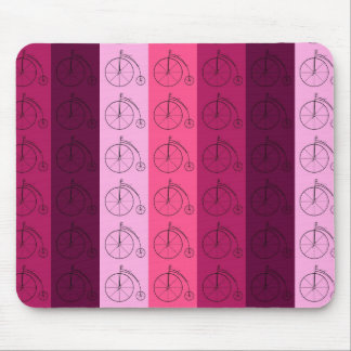 Shades of Pink Bicycles Mouse Pad