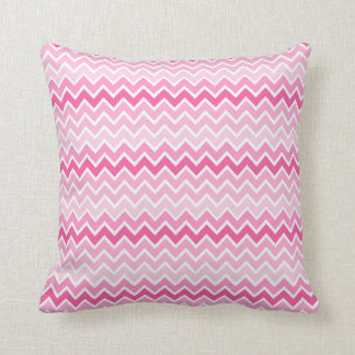 Shades of Pink Chevron Pillow