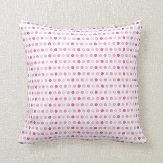 Shades of Pink Dots Pillow