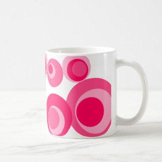 Shades of pink dots White Stripes Classic White Coffee Mug