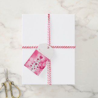Shades of Pink Holiday White Christmas Tree Gift Tags