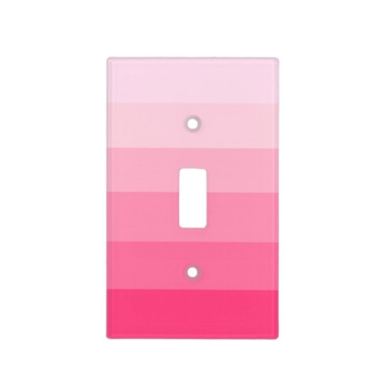 """Shades of Pink"" Light Switch Cover"