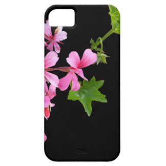 shades of pink on black iPhone 5 cover