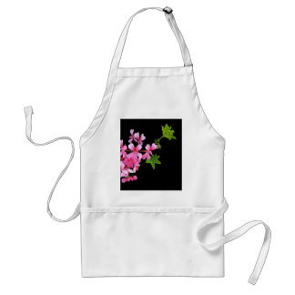 shades of pink on black standard apron