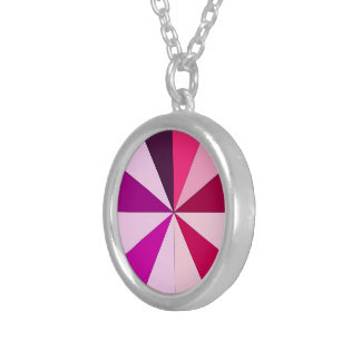 shades of pink silver plated necklace