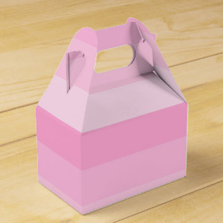 Shades of Pink Stripes Favor Box