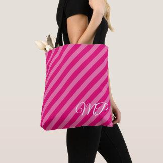 Shades of Pink Stripes Tote Bag