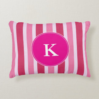 Shades of Pink w/Monogram Accent Pillow