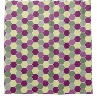 Shades of Purple and Green Honeycomb Pattern