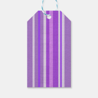 Shades of Purple and White Lavender Stripes Pack Of Gift Tags