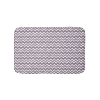 Shades of Purple Chevron Striped Bath Mats