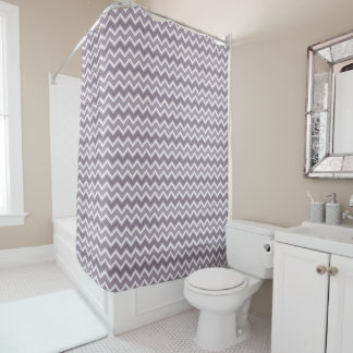 Shades of Purple Chevron Striped Shower Curtain