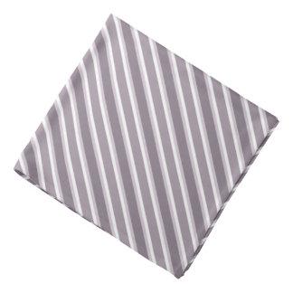 Shades of Purple Diagonal Stripes Bandana