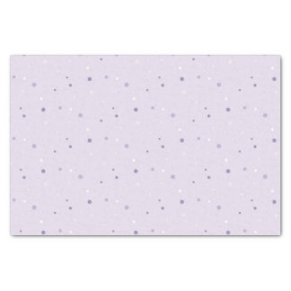 shades of purple dots tissue paper