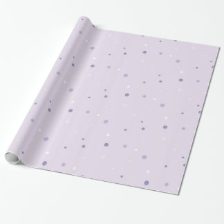 shades of purple dots wrapping paper