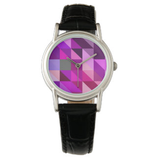 Shades of Purple Geometrical Pattern Watch