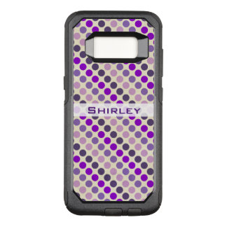 Shades of Purple Polka Dots by Shirley Taylor OtterBox Commuter Samsung Galaxy S8 Case