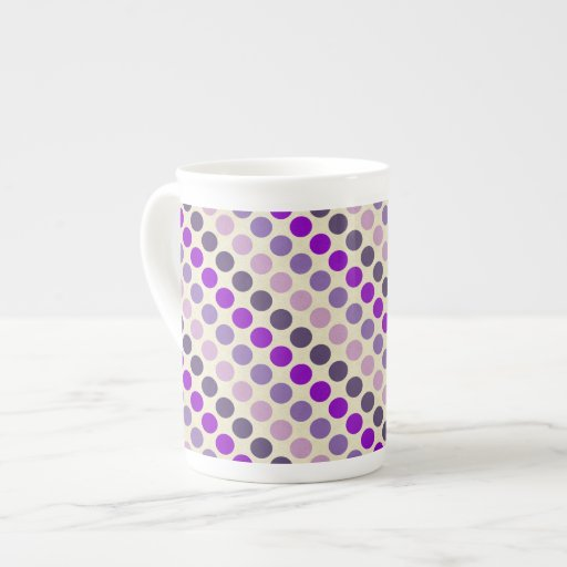 Shades Of Purple Polka Dots Porcelain Mugs
