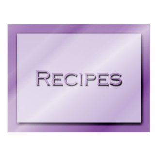 Shades of Purple Recipe Card