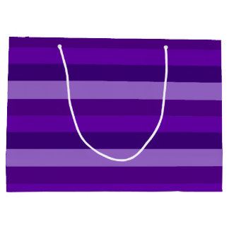 Shades of Purple Stripes Large Gift Bag