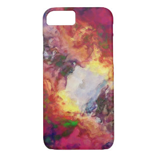 Shades of Red Abstract iPhone 7 Case