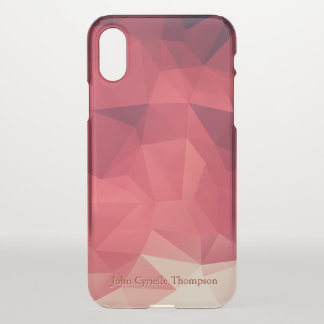 Shades of Red Geometric Personalized iPhone X Case