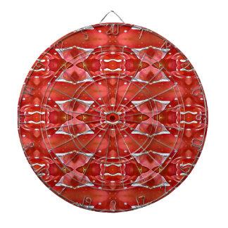 Shades Of Red Modern Festive Design Dartboard